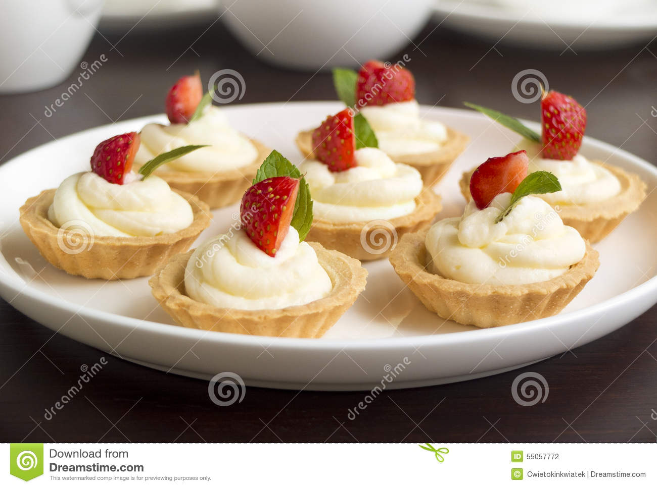 Yellow Cake With Strawberries And Whipped Cream
