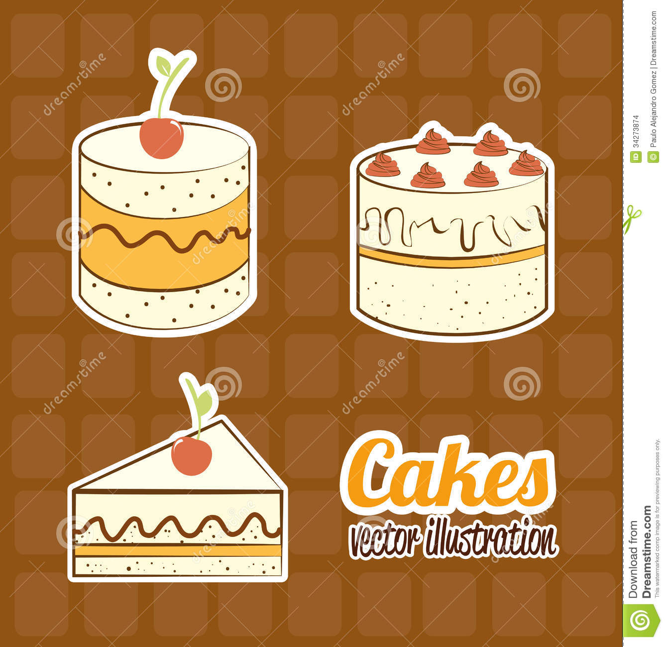 Cake Designs By Jackie Brown : Cakes Stock Images - Image: 34273874