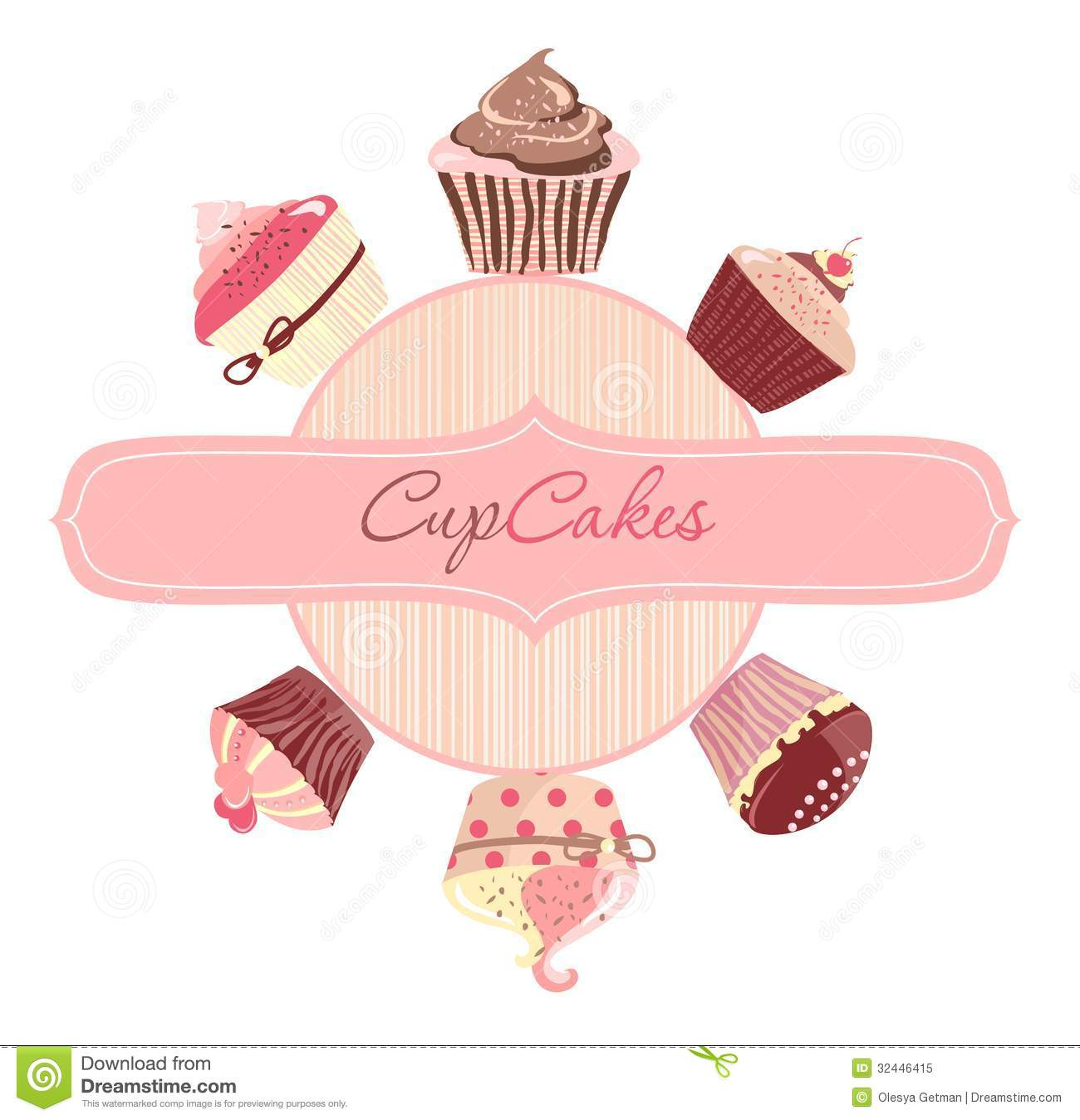 Cakes Logo Vector Royalty Free Stock Photo Image 32446415