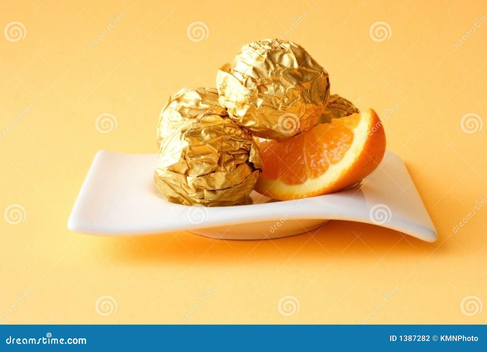 Cakes With Orange Stuff Stock Photo Image Of Dark Desire