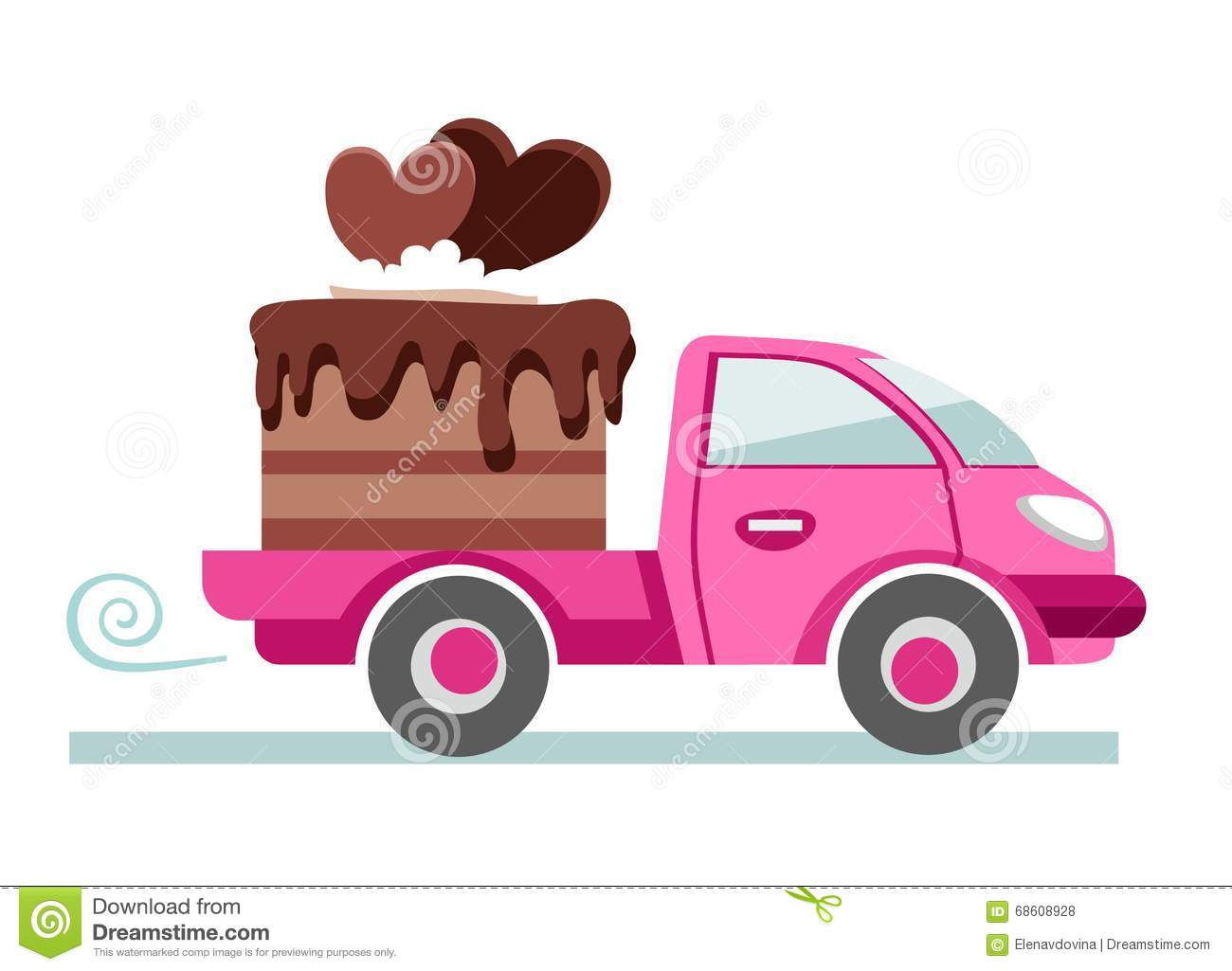 Cakes, Pastries, Shipping, Vector Image. Stock Vector - Image ...