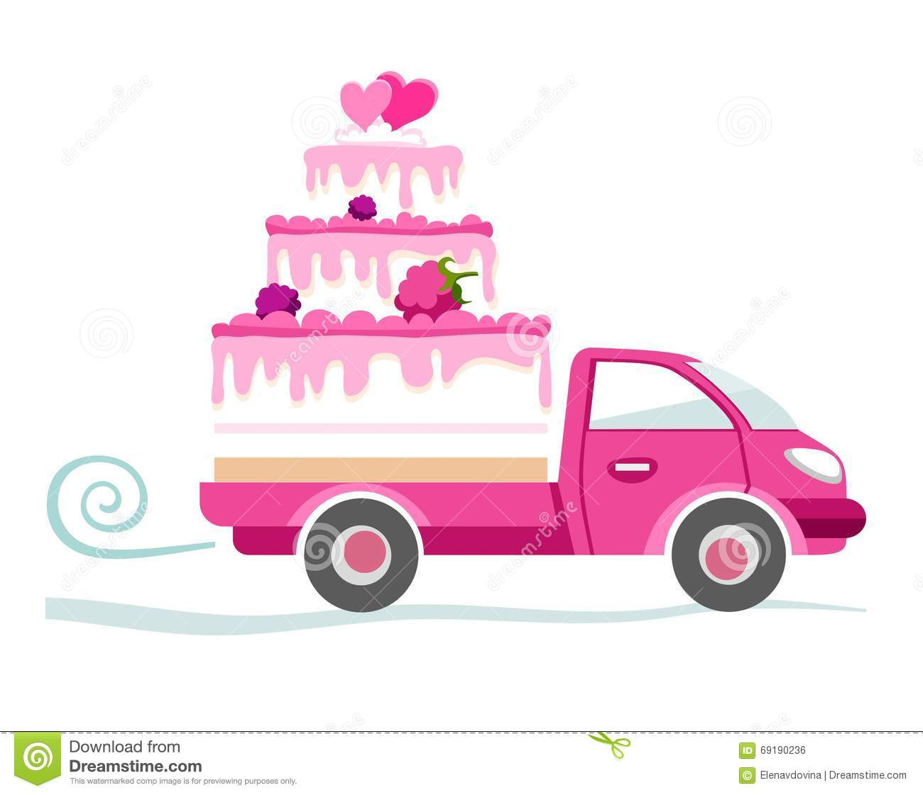 Cakes To Order Delivery Coloured Picture