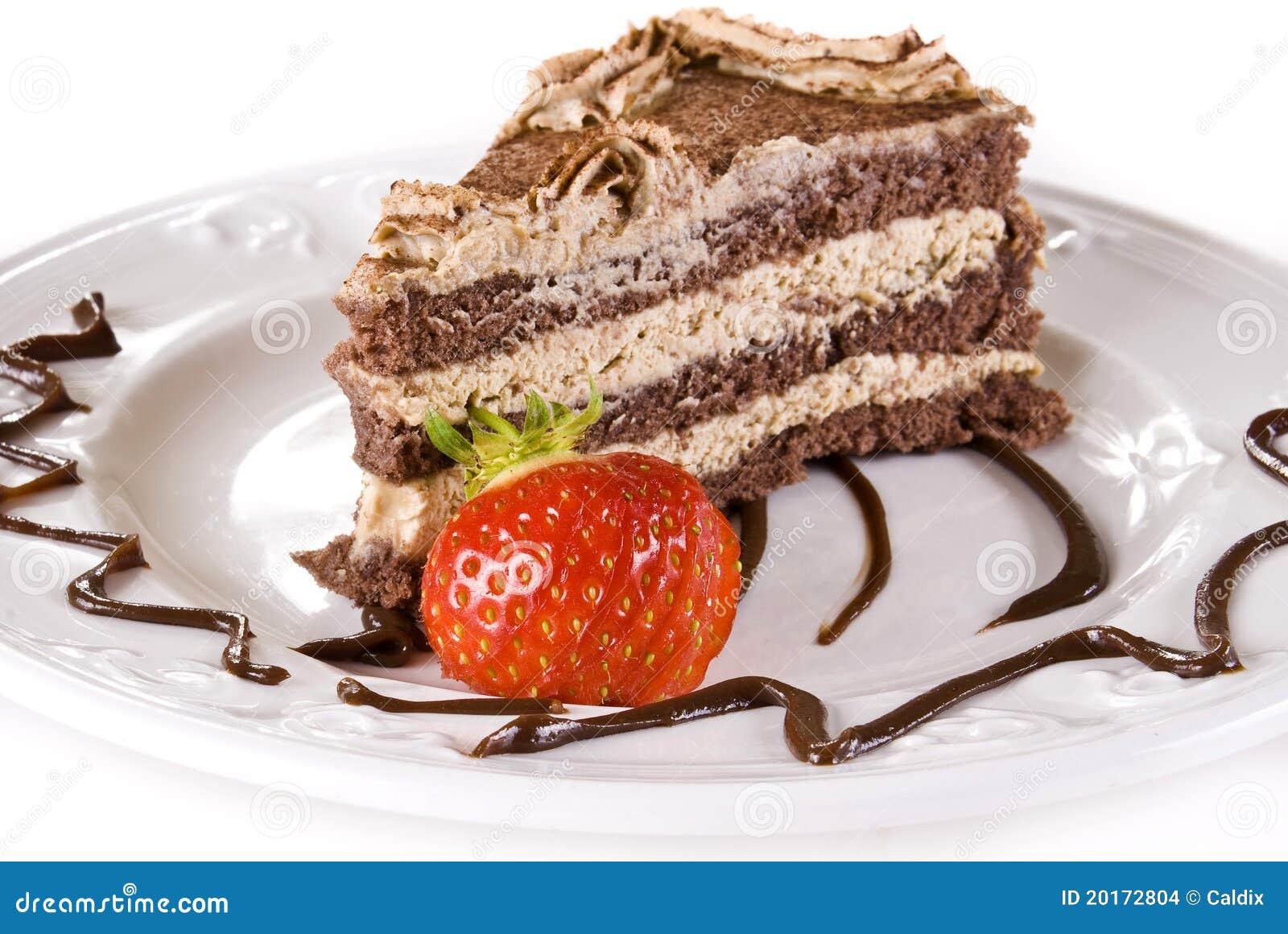 Cakewith tiramisu φραουλών