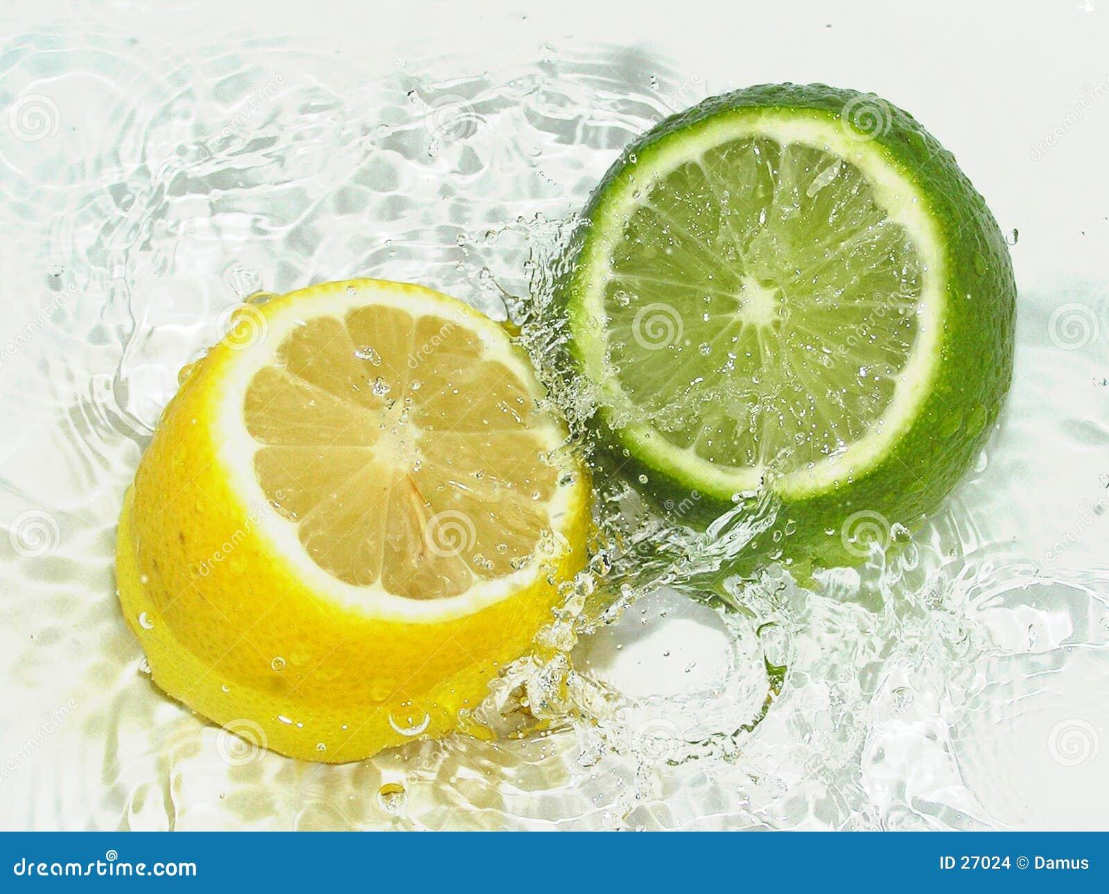 Download Cal contra el limón foto de archivo. Imagen de fresco, limpio - 27024