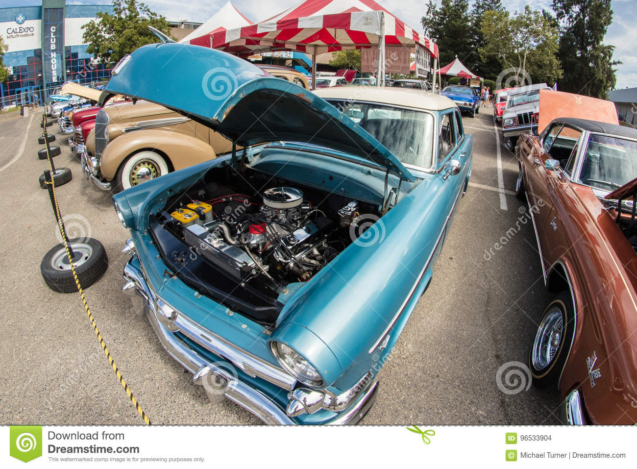 Cal Expo Auto Show Vintage Autos Editorial Stock Image - Image of ...