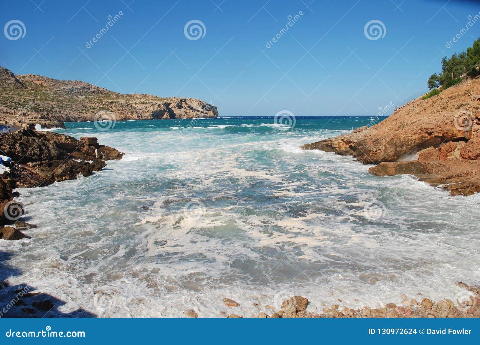 Cala Carbo plaża, Majorca wyspa