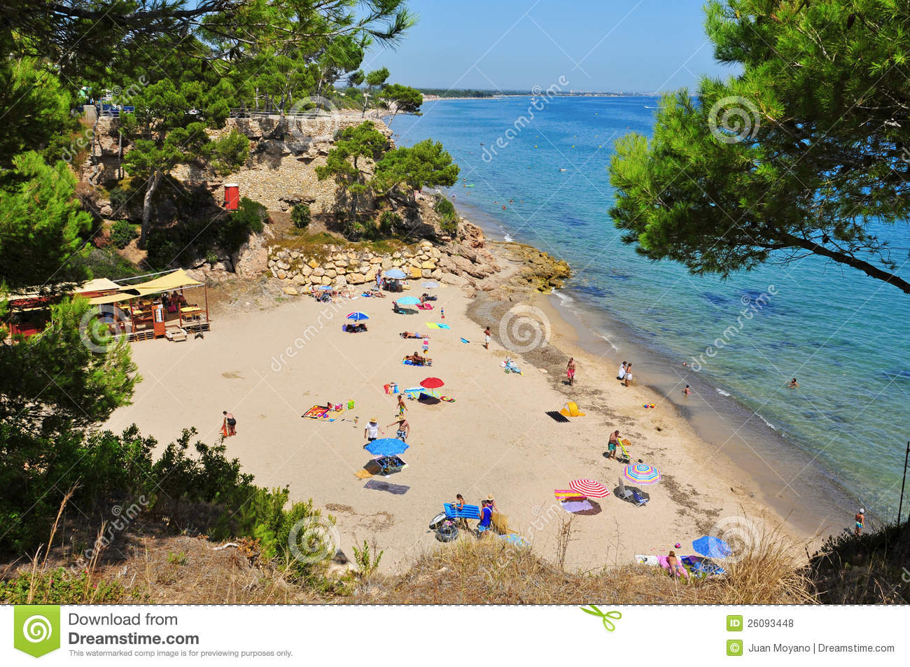 Miami Platja Spain  city photos gallery : Cala Dels Vienesos Beach, In Miami Platja, Spain Editorial Stock Photo ...