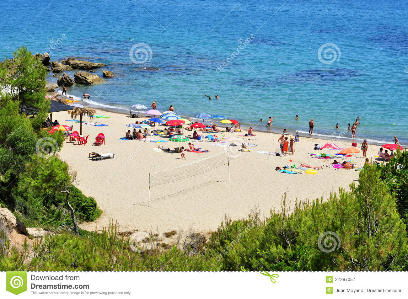 Miami Platja Spain  city pictures gallery : Cala Dels Vienesos Beach, In Miami Platja, Spain Editorial Photography ...