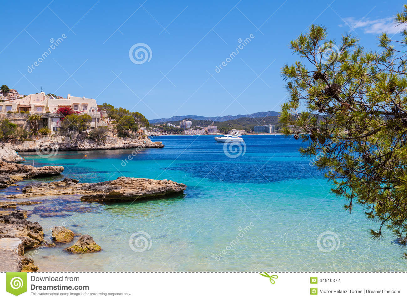 Paguera Spain  city photos gallery : cala fornells view majorca paguera spain 34910372