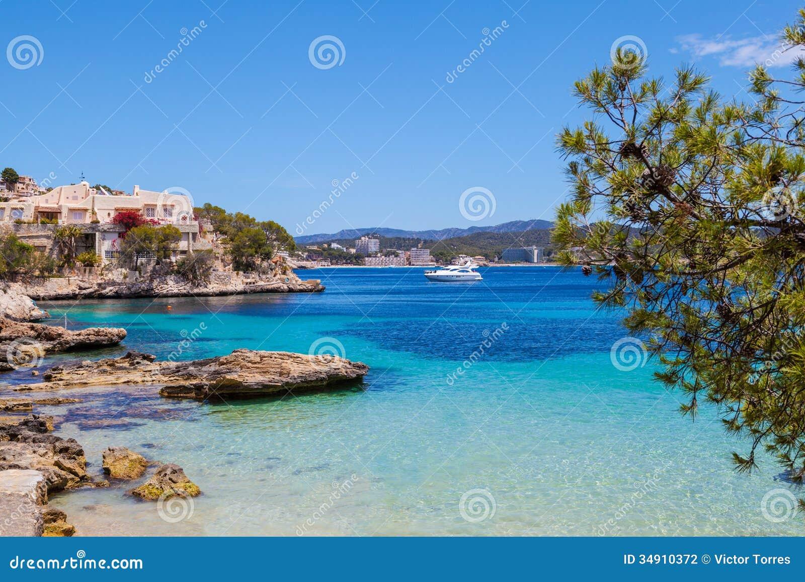 Cala Fornells widok w Majorca