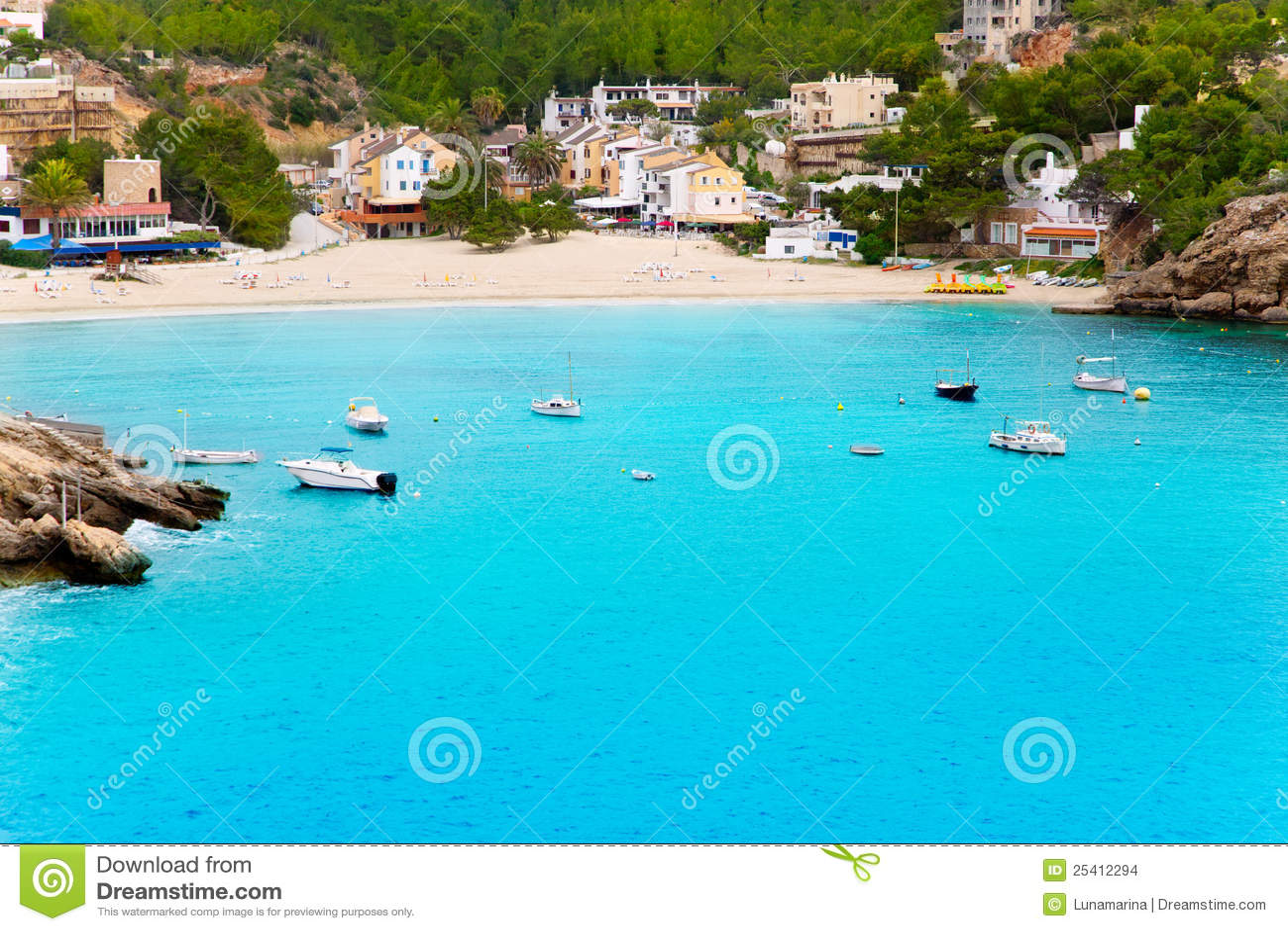 Cala ibiza海岛绿松石vadella水