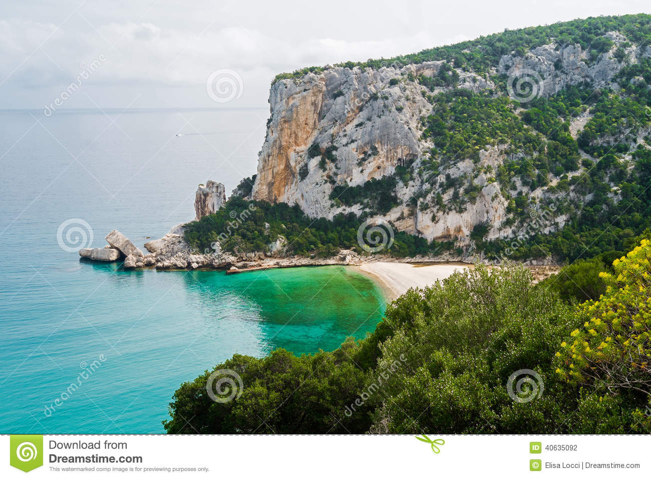 Cala Gonone Italy  city photos gallery : Cala Luna beach in Cala Gonone, Sardinia, Italy.