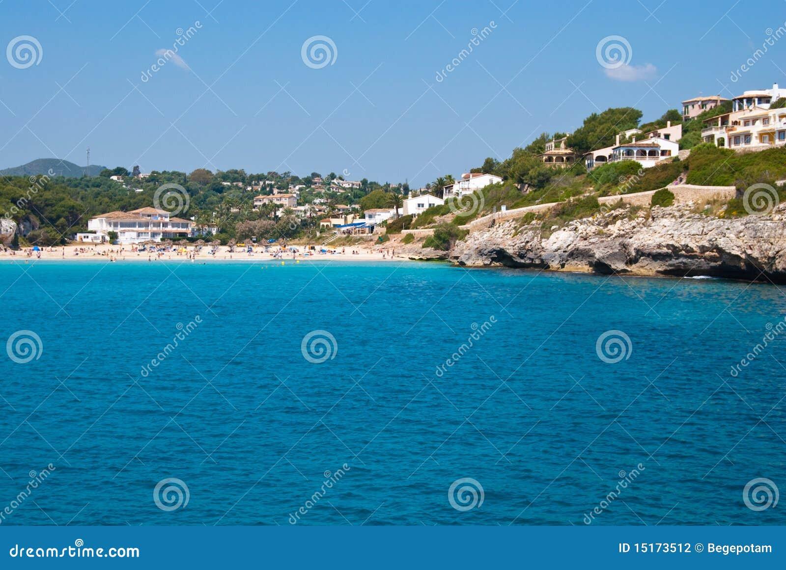 Cala Romantica Spain  city pictures gallery : Cala Romantica Beach And Hotels, Majorca, Spain Stock Photography ...