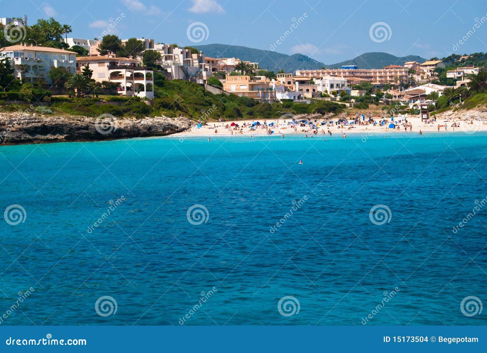 Cala Romantica Spain  City pictures : Cala Romantica Coast And Hotels, Majorca, Spain Stock Images Image ...