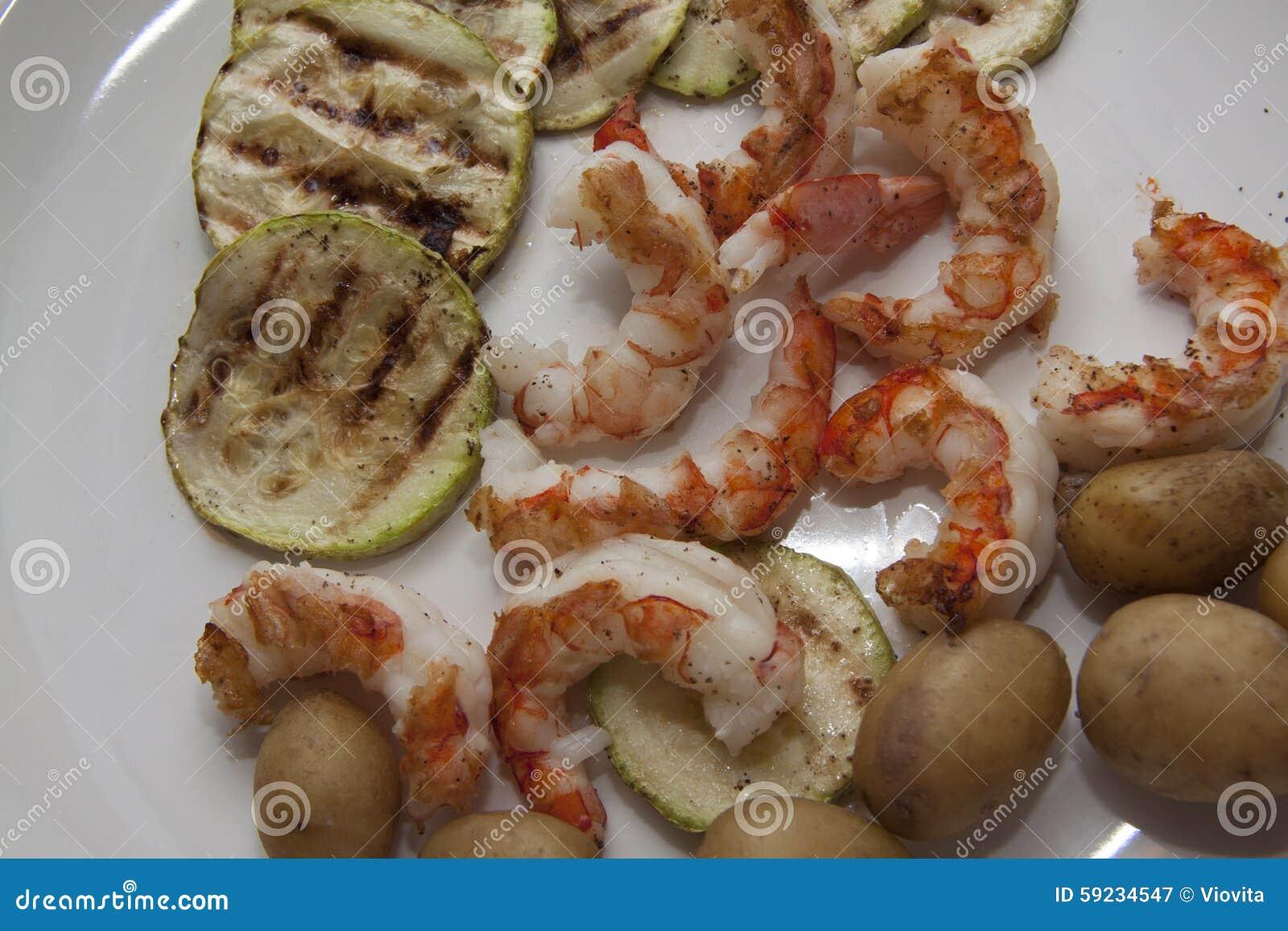 Download Calabacín, Patata En Las Gambas Imagen de archivo - Imagen de variedad, gambas: 59234547