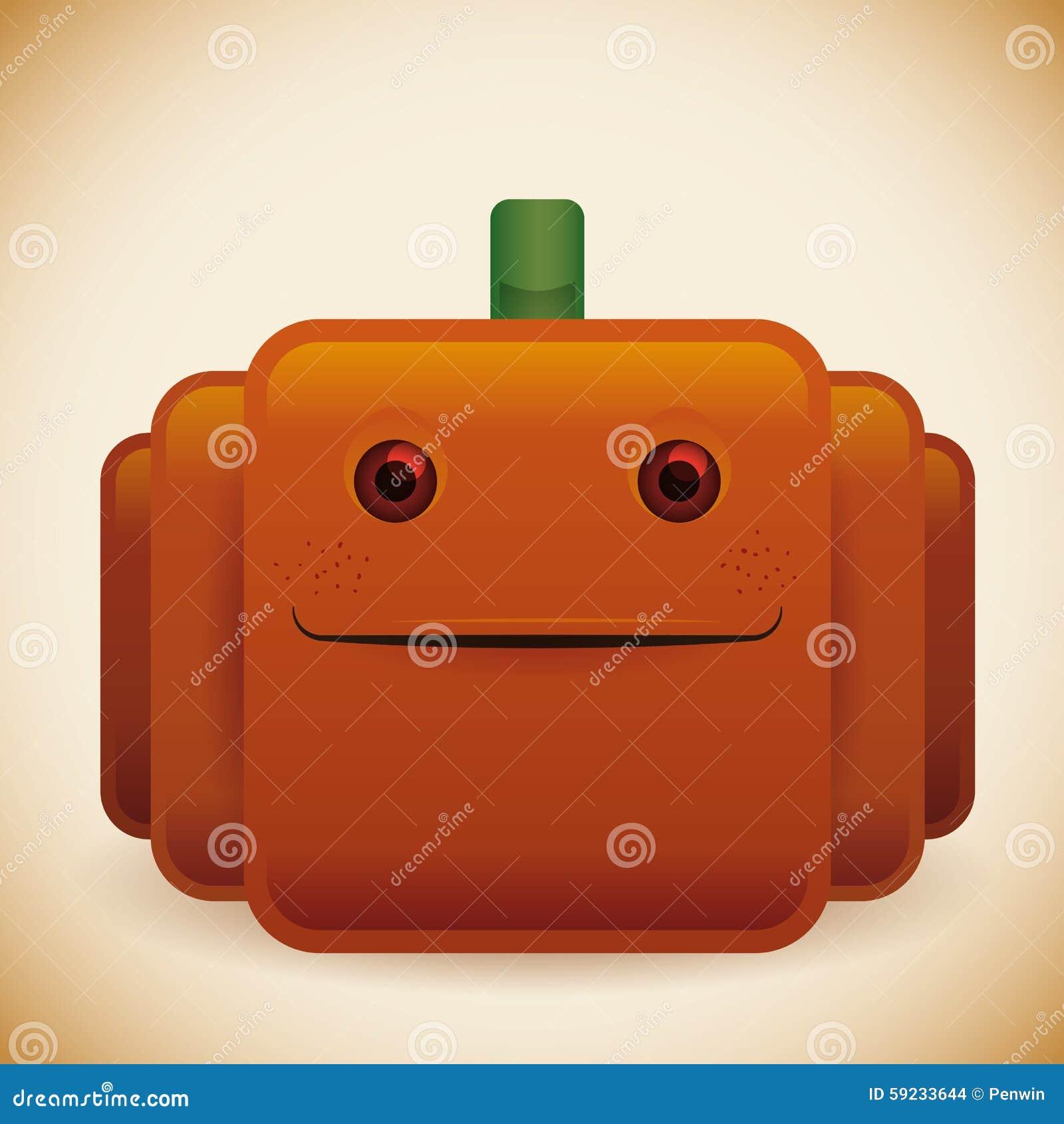 Calabaza brillante del feliz Halloween