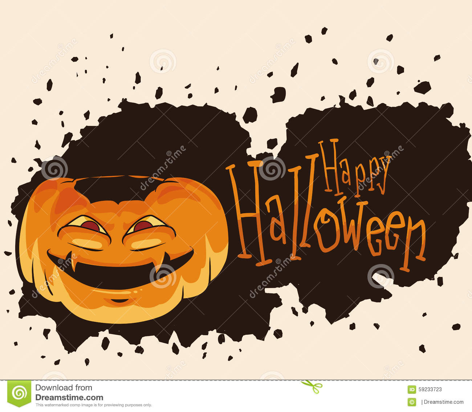 Calabaza de Halloween con la cara de la locura
