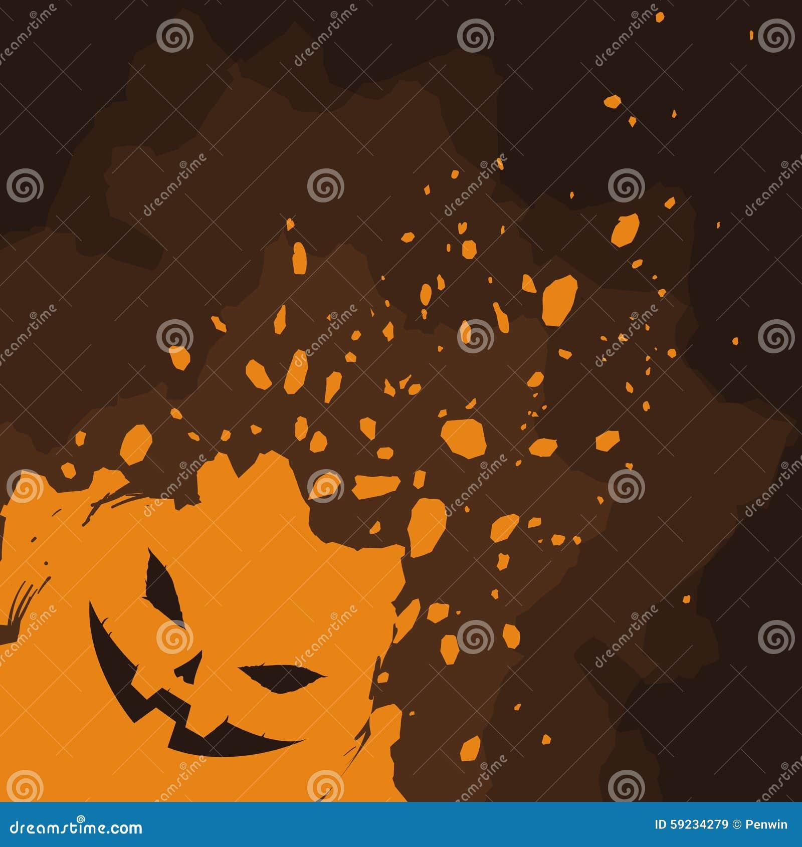 Calabaza de Halloween en fondo de la salpicadura
