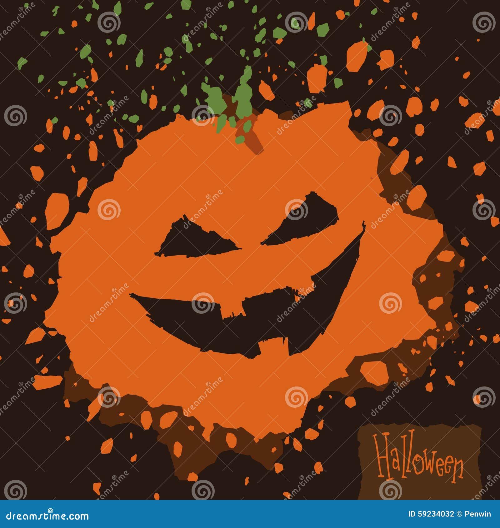 Download Calabaza De La Salpicadura De Halloween Ilustración del Vector - Ilustración de estación, vector: 59234032