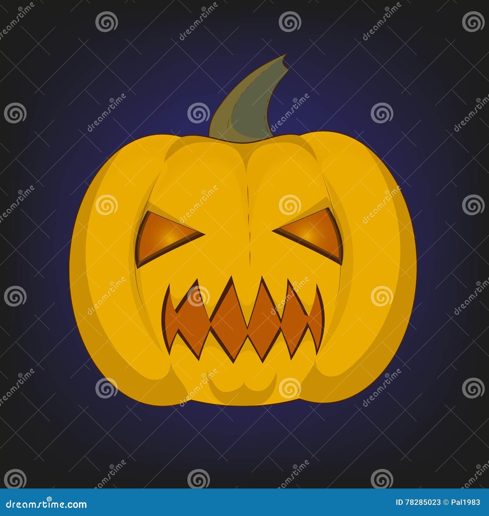Calabaza grande Halloween ilustración del vector. Ilustración de ...