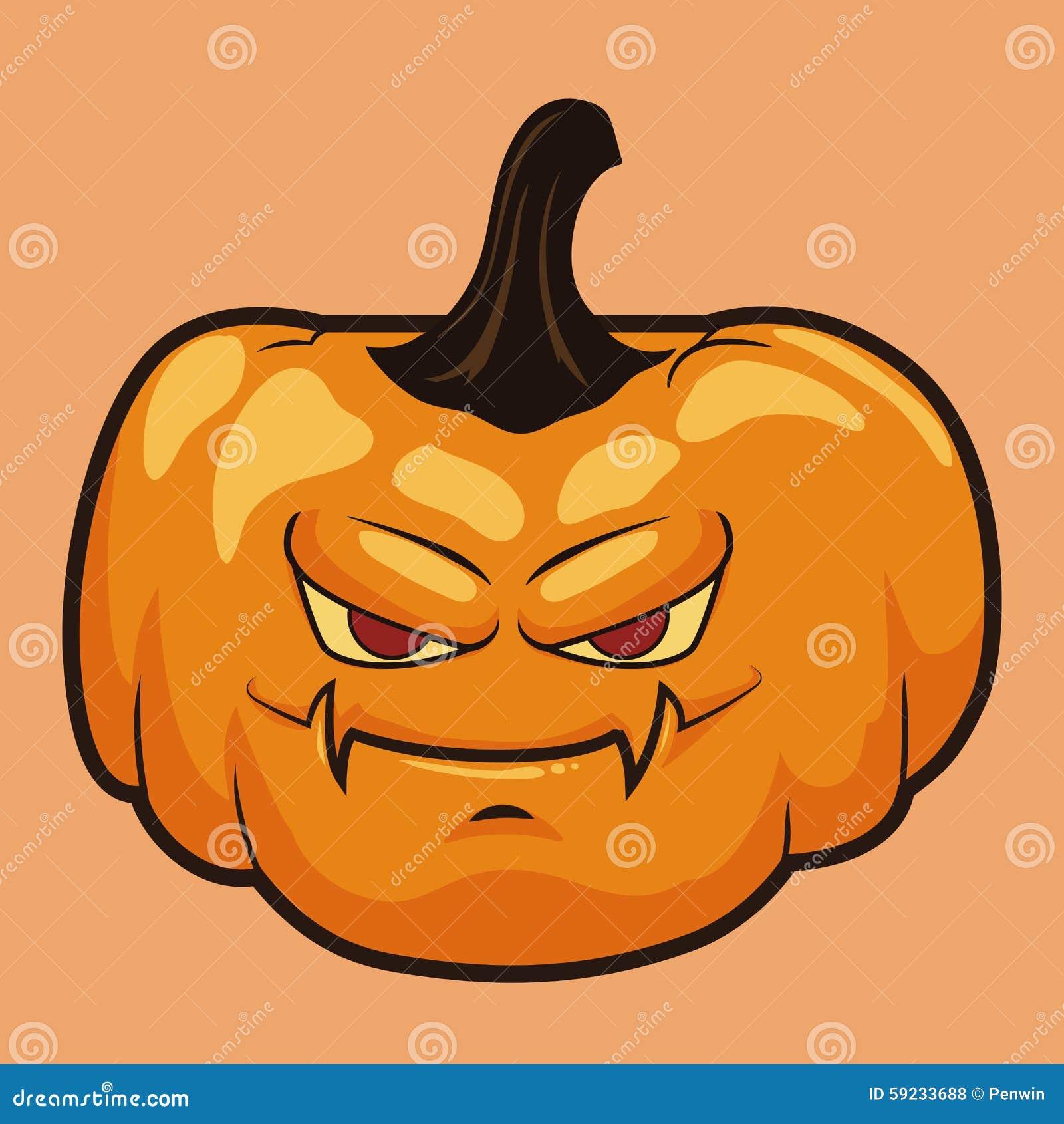 Download Calabaza Gruñona De Halloween Aislada Ilustración del Vector - Ilustración de octubre, holiday: 59233688