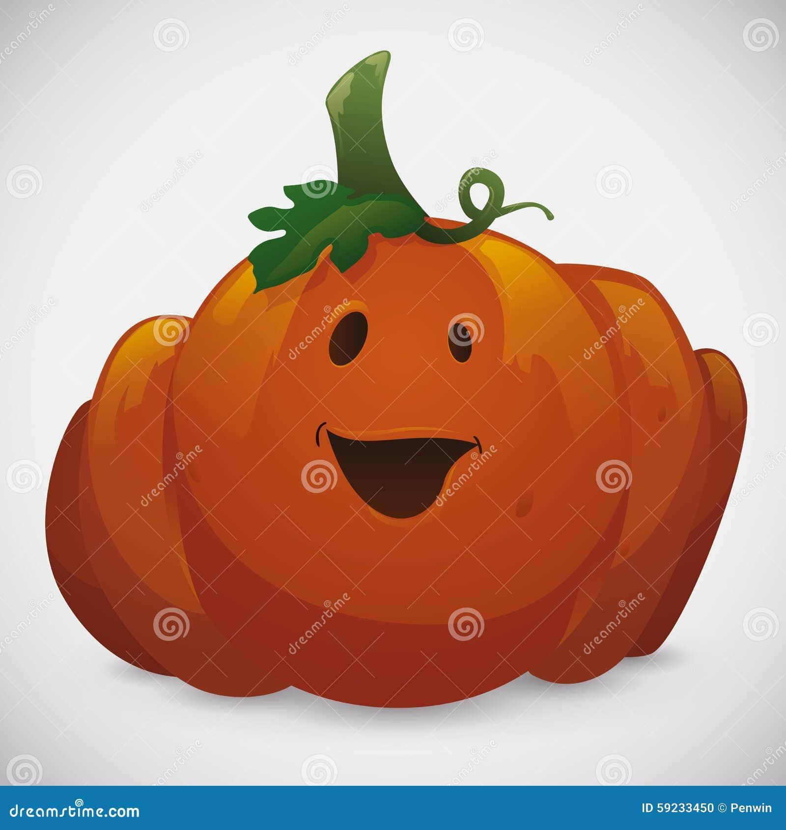 Download Calabaza Linda De Halloween En El Fondo Blanco Ilustración del Vector - Ilustración de diversión, símbolo: 59233450