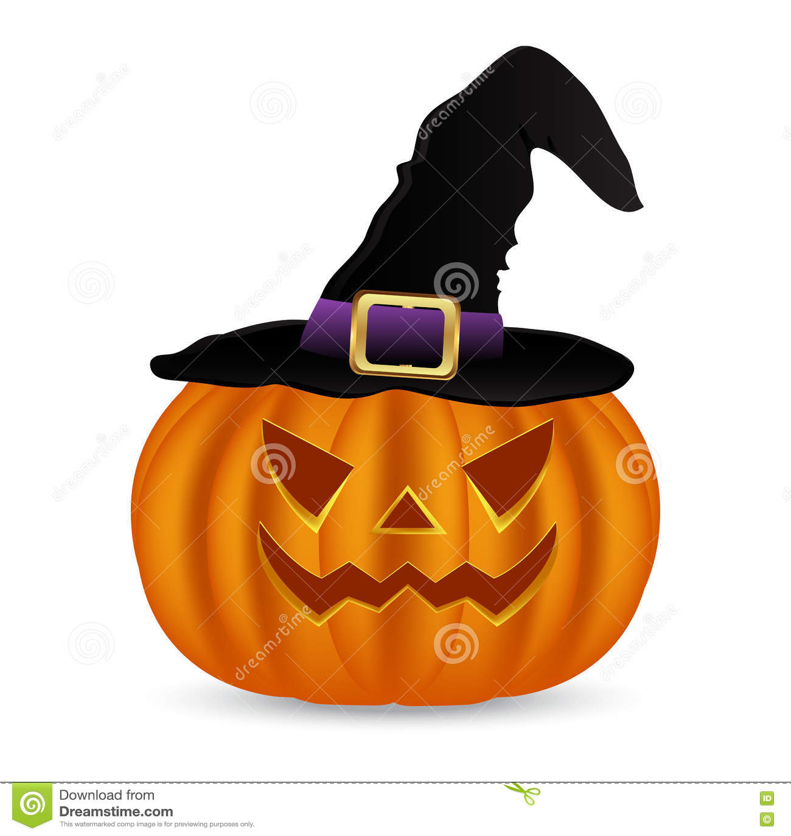 3fa20e5b8b613 Calabaza Traviesa Para Halloween En Un Sombrero De Las Brujas ...