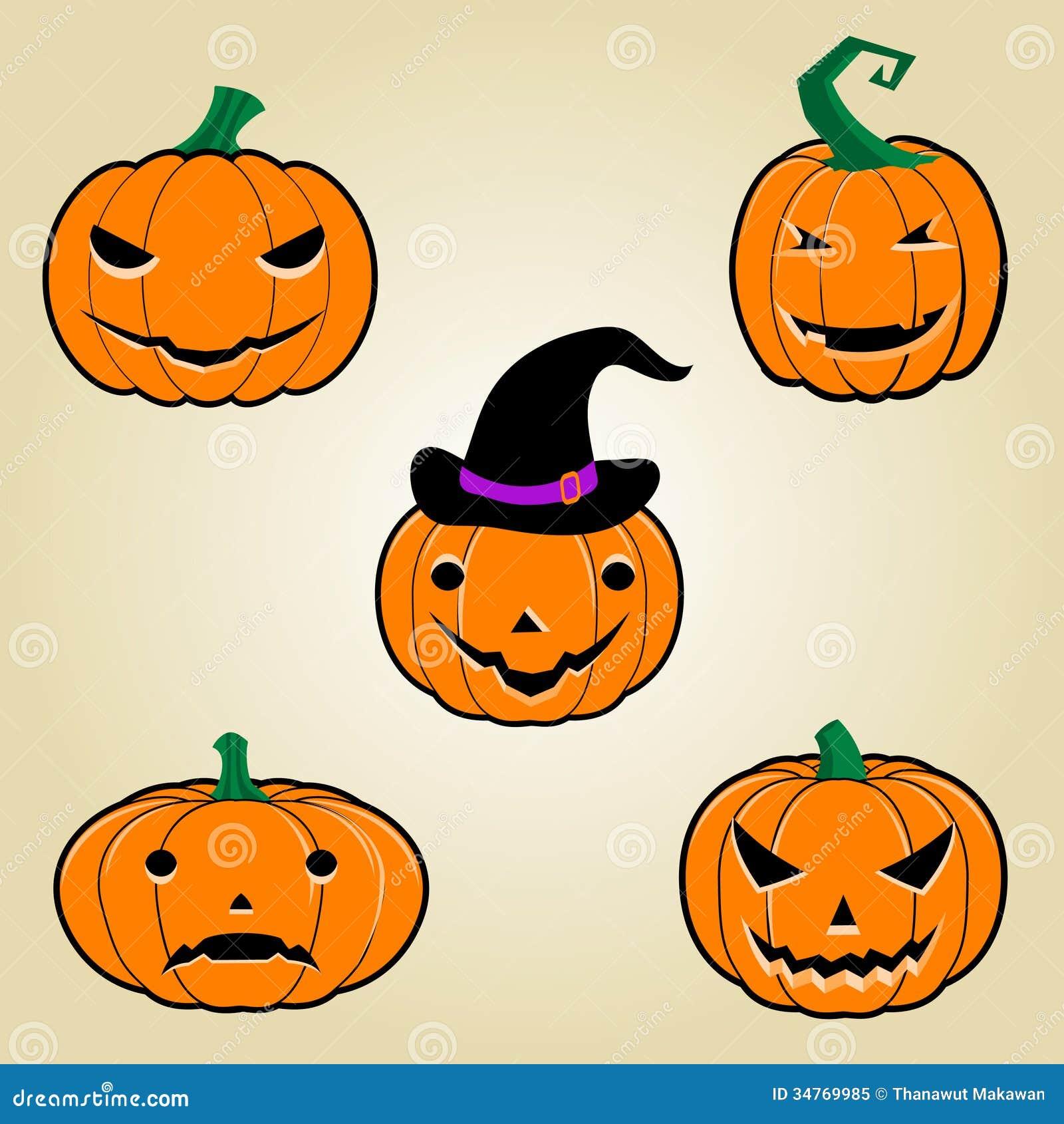 Calabazas de halloween foto de archivo libre de regal as - Disenos de calabazas de halloween ...