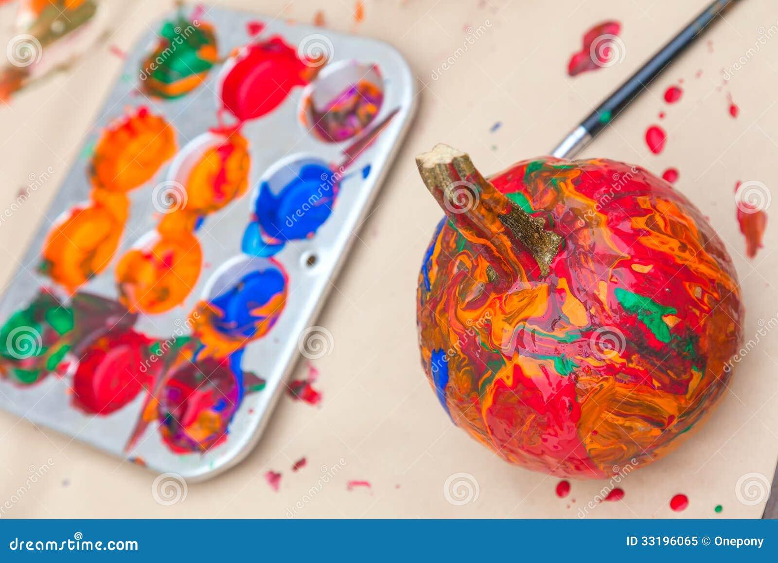 Calabazas pintadas foto de archivo libre de regal as - Calabazas pintadas para halloween ...