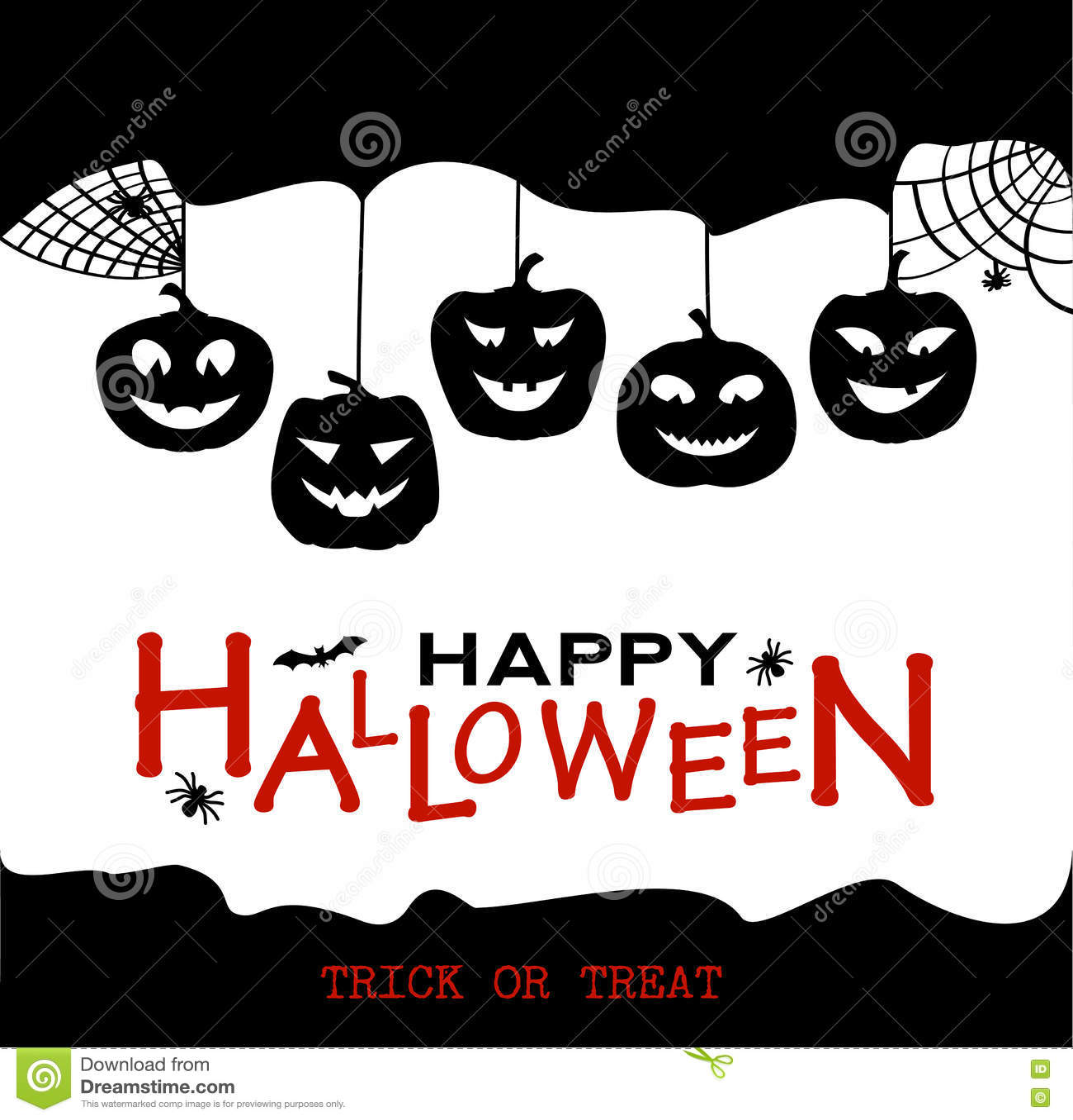 Calabazas y casas del dise o de halloween fondo blanco y - Disenos de calabazas de halloween ...