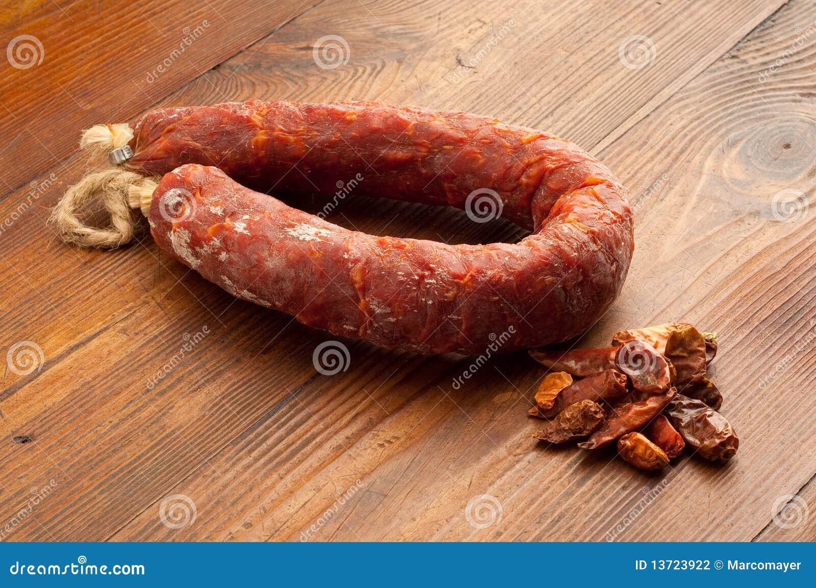 Calabria chili gorący Italy salami