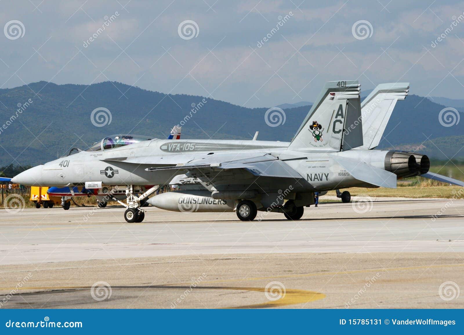 Calabrone eccellente del blu marino F-18 degli Stati Uniti