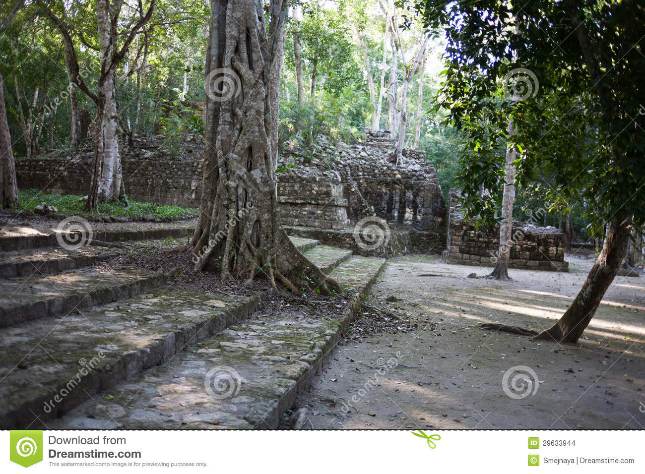 Calakmul - ancient mayan city in Mexico