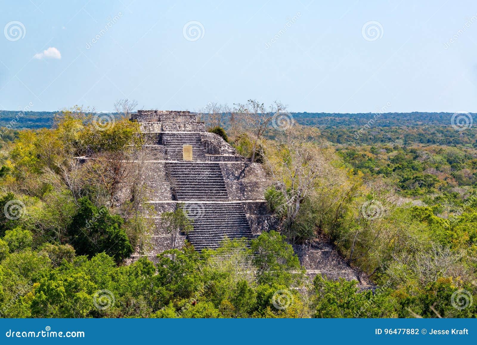 Calakmul, pirâmide de México
