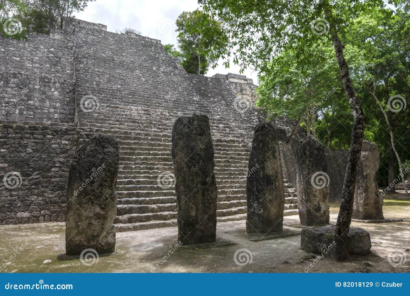 Calakmul pyramid structure VII