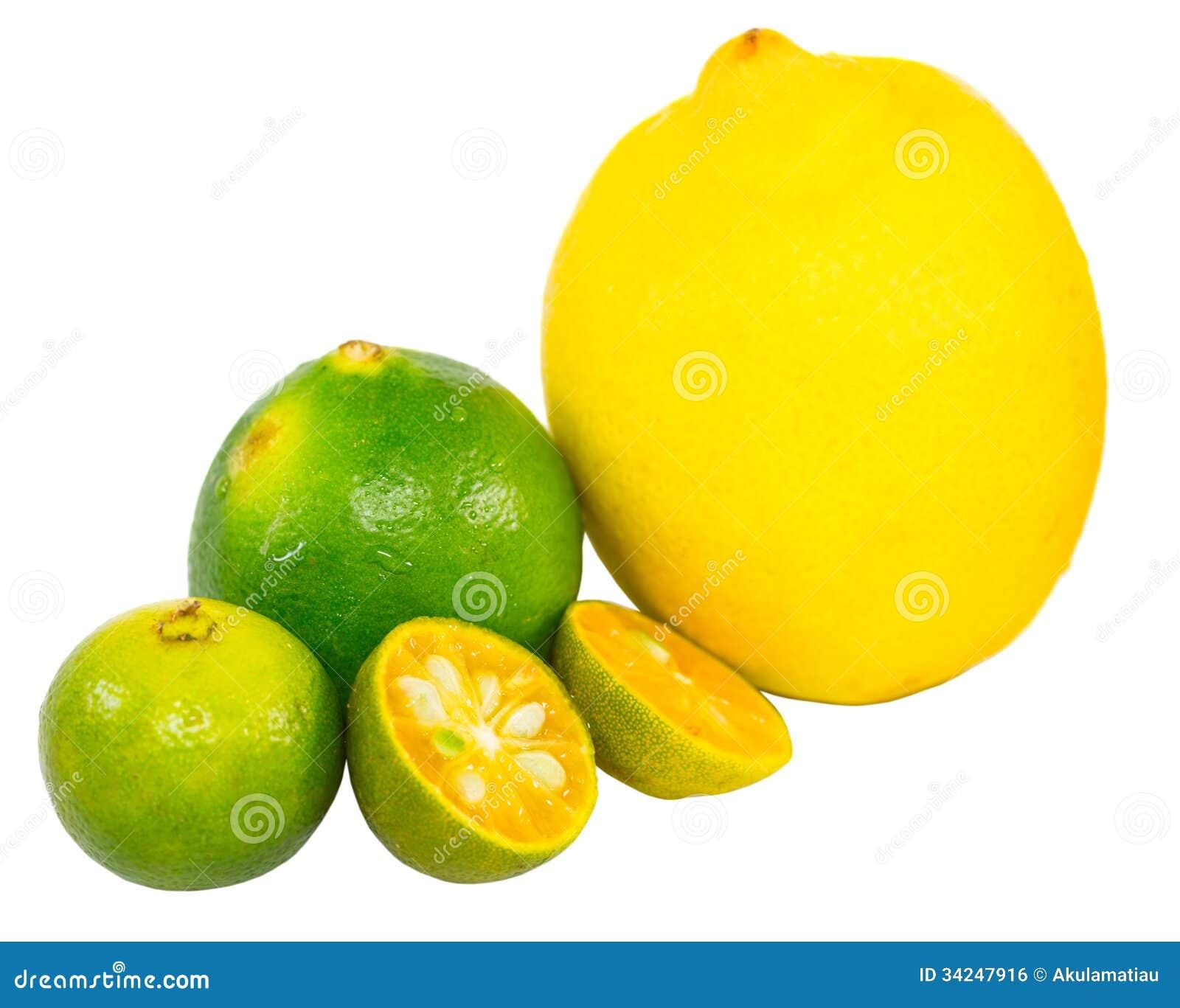 Key Lime Green Calamansi Lime And Lemon Vii Royalty Free Stock Image