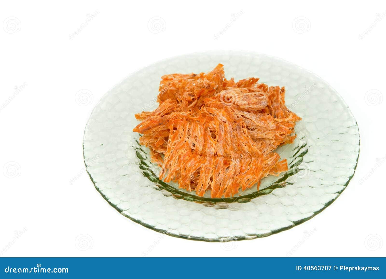 Calamar secado, producto alimenticio