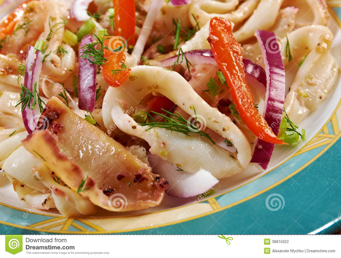 Calamari in padella stock photo image 38815022 for About mediterranean cuisine