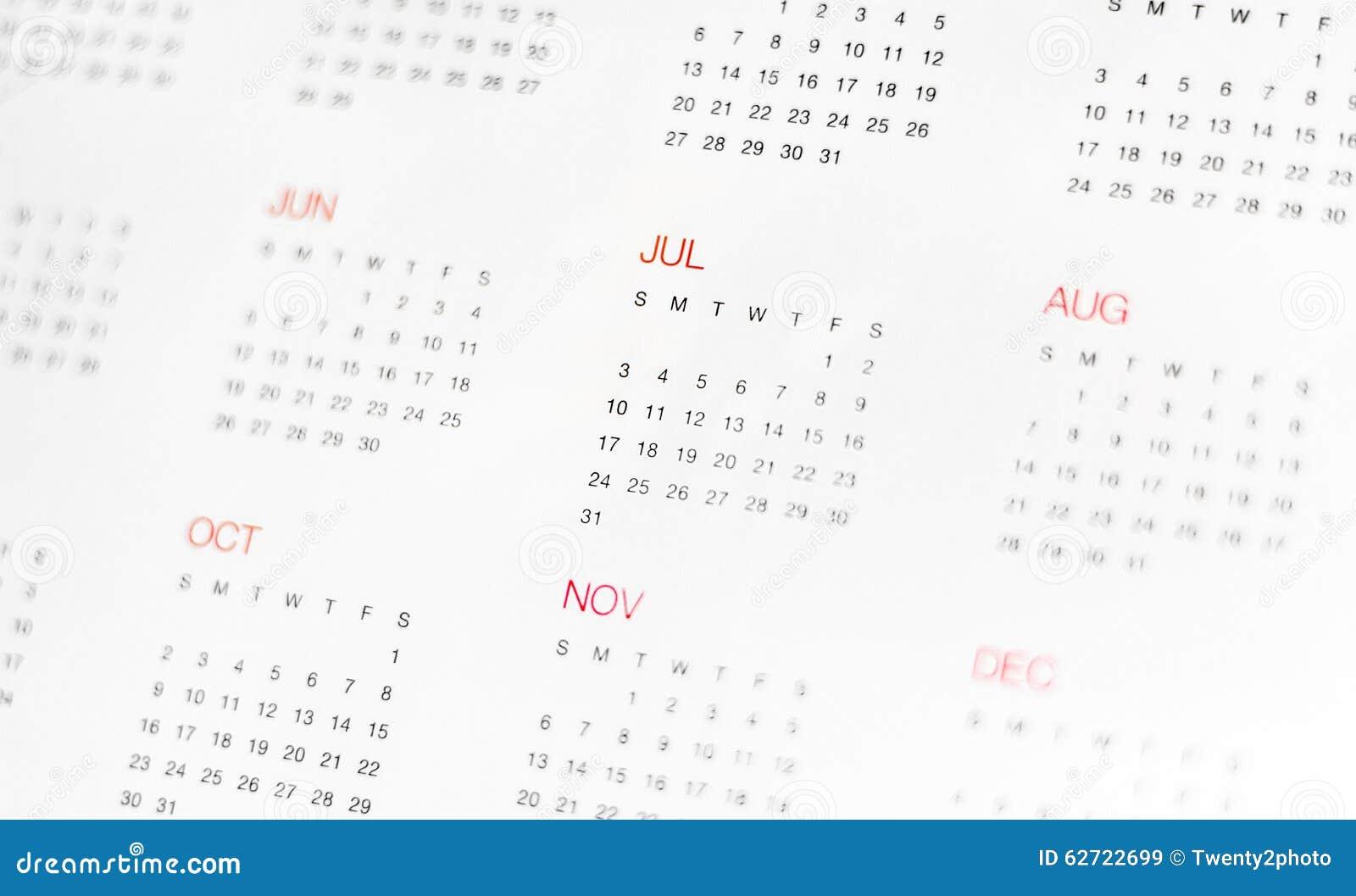 Calander με την ημέρα & το μήνα