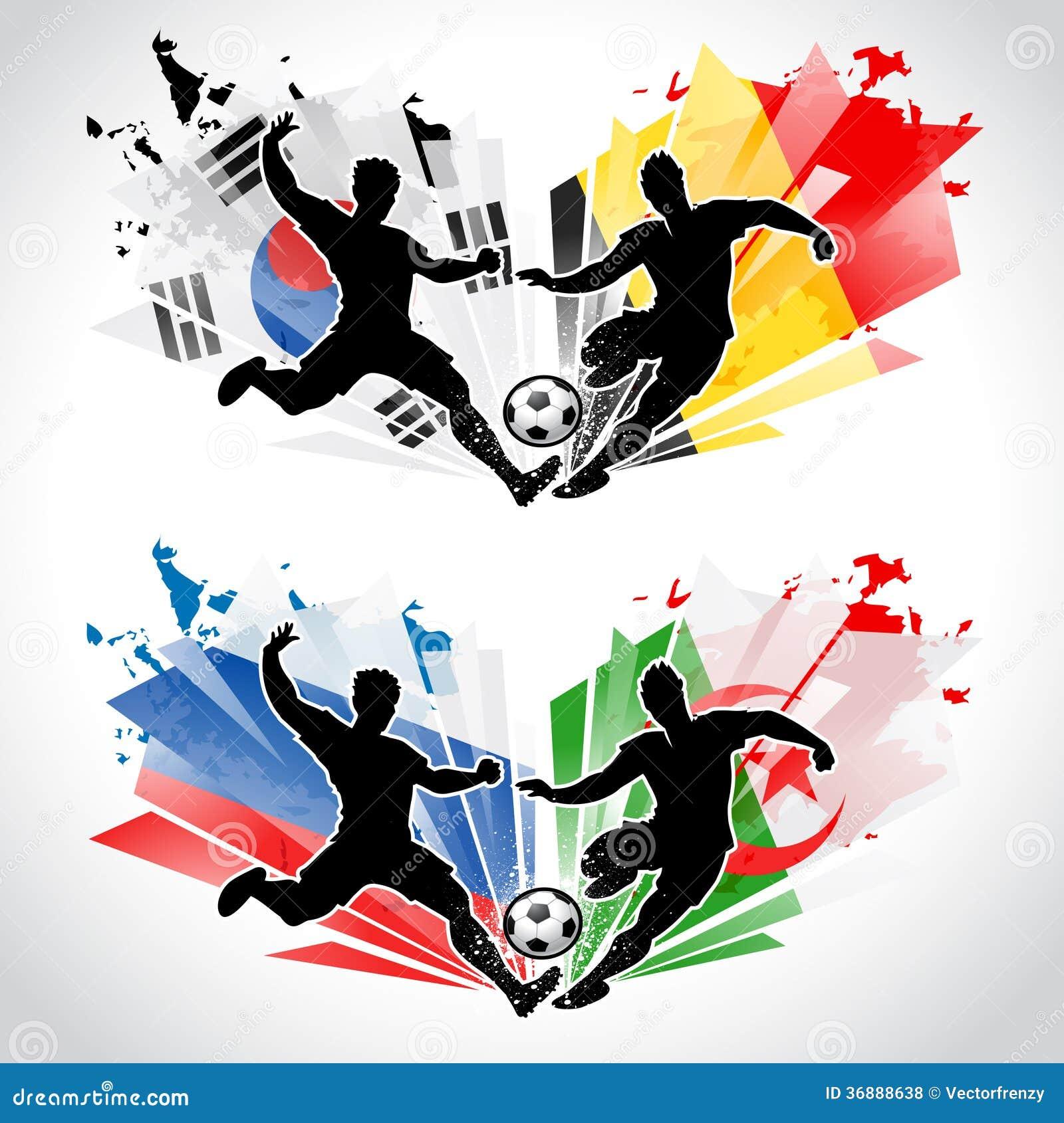Download Calciatori Che Rappresentano I Paesi Illustrazione Vettoriale - Illustrazione di moderno, bandierina: 36888638