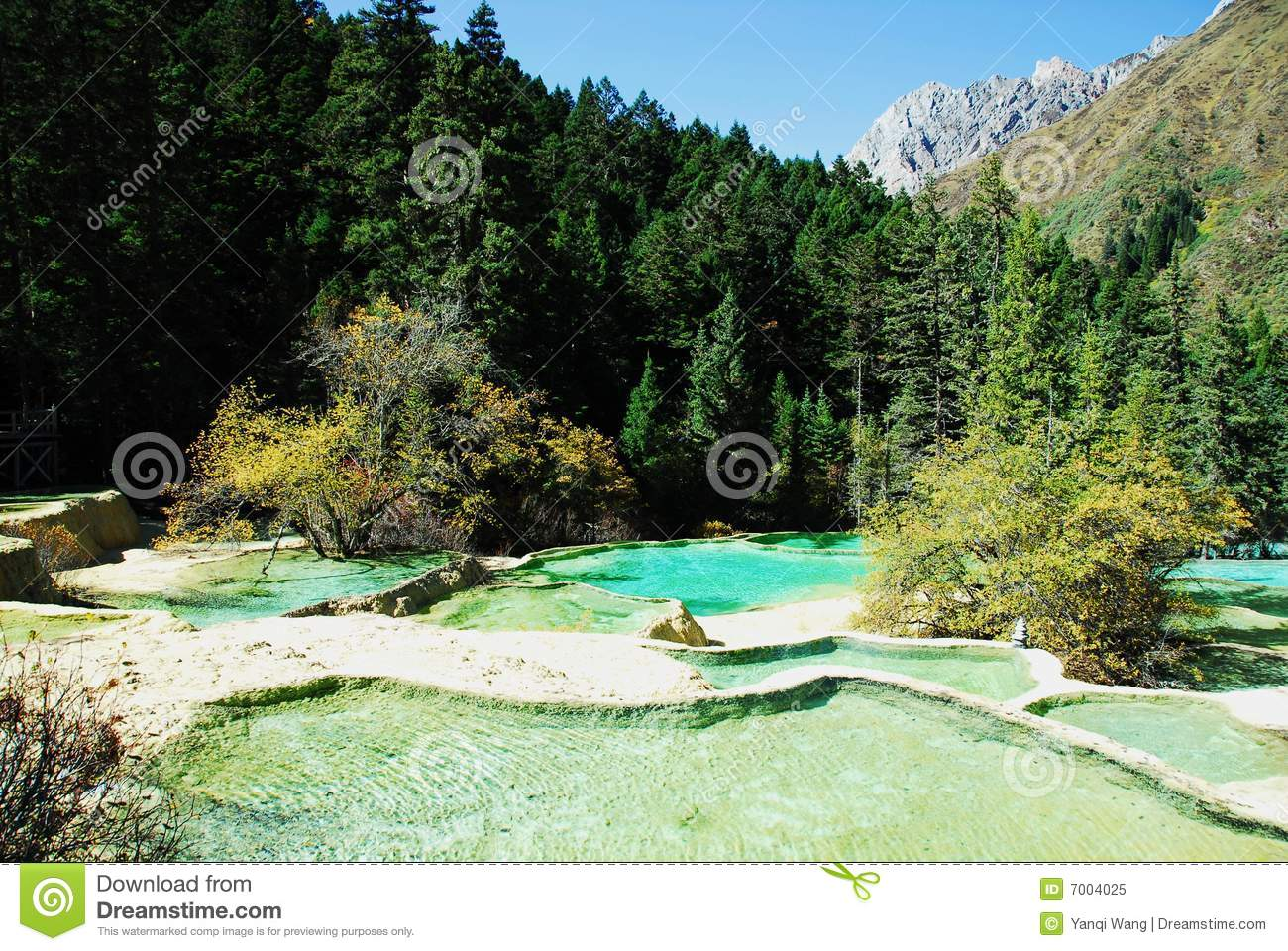 Calcified Ponds in Huanglong