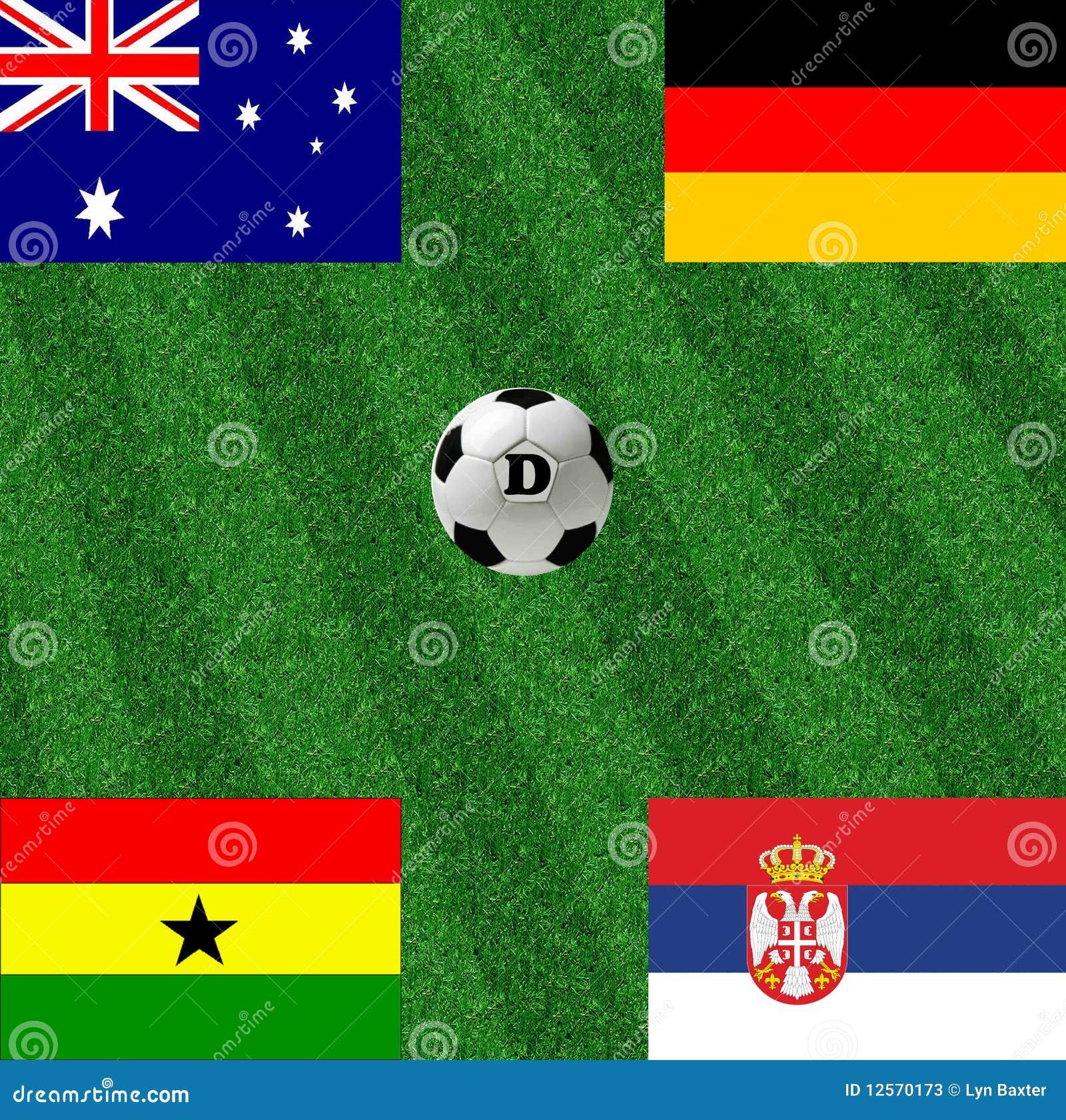 Calcio della tazza di mondo del gruppo D