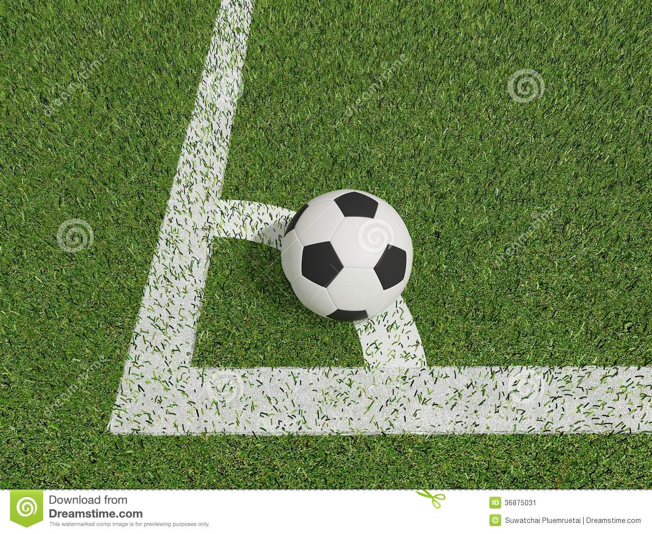 Download Calcio O Calcio Nel Campo Di Erba Verde Su Conner Illustrazione di Stock - Illustrazione di divertimento, campo: 36875031
