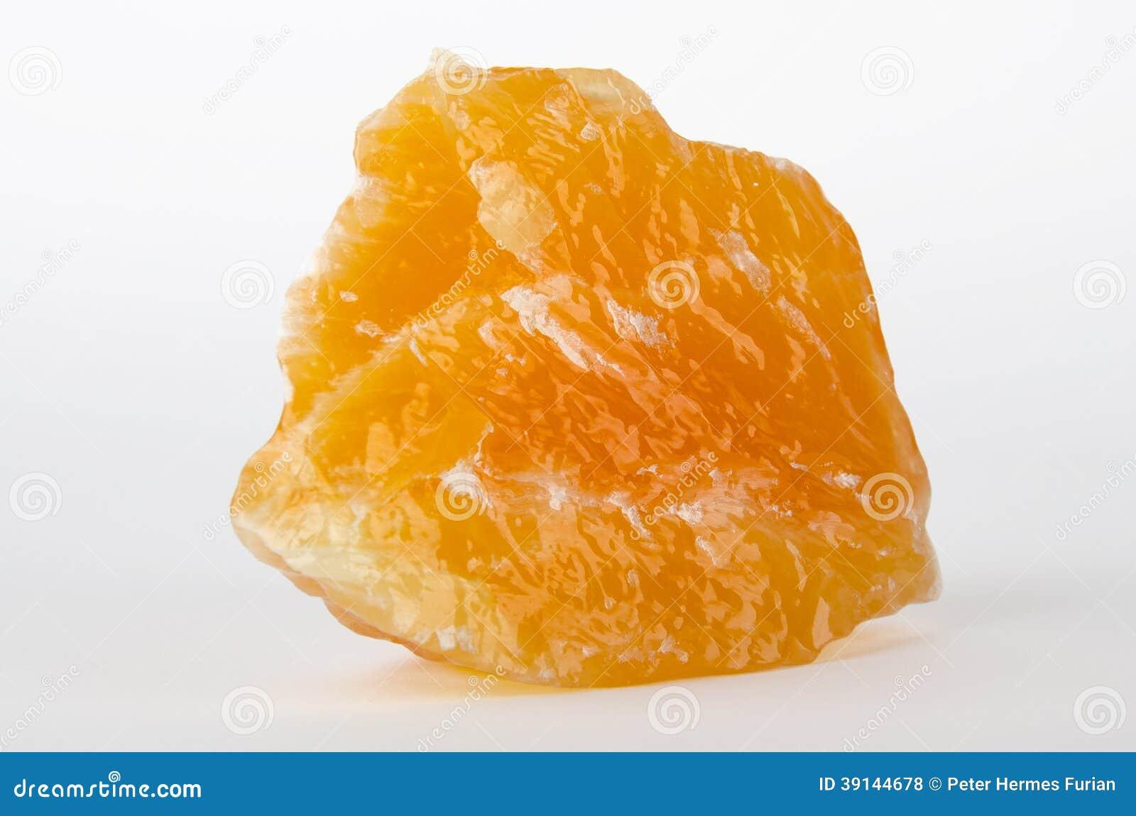 Calcite giallo arancione dal Messico