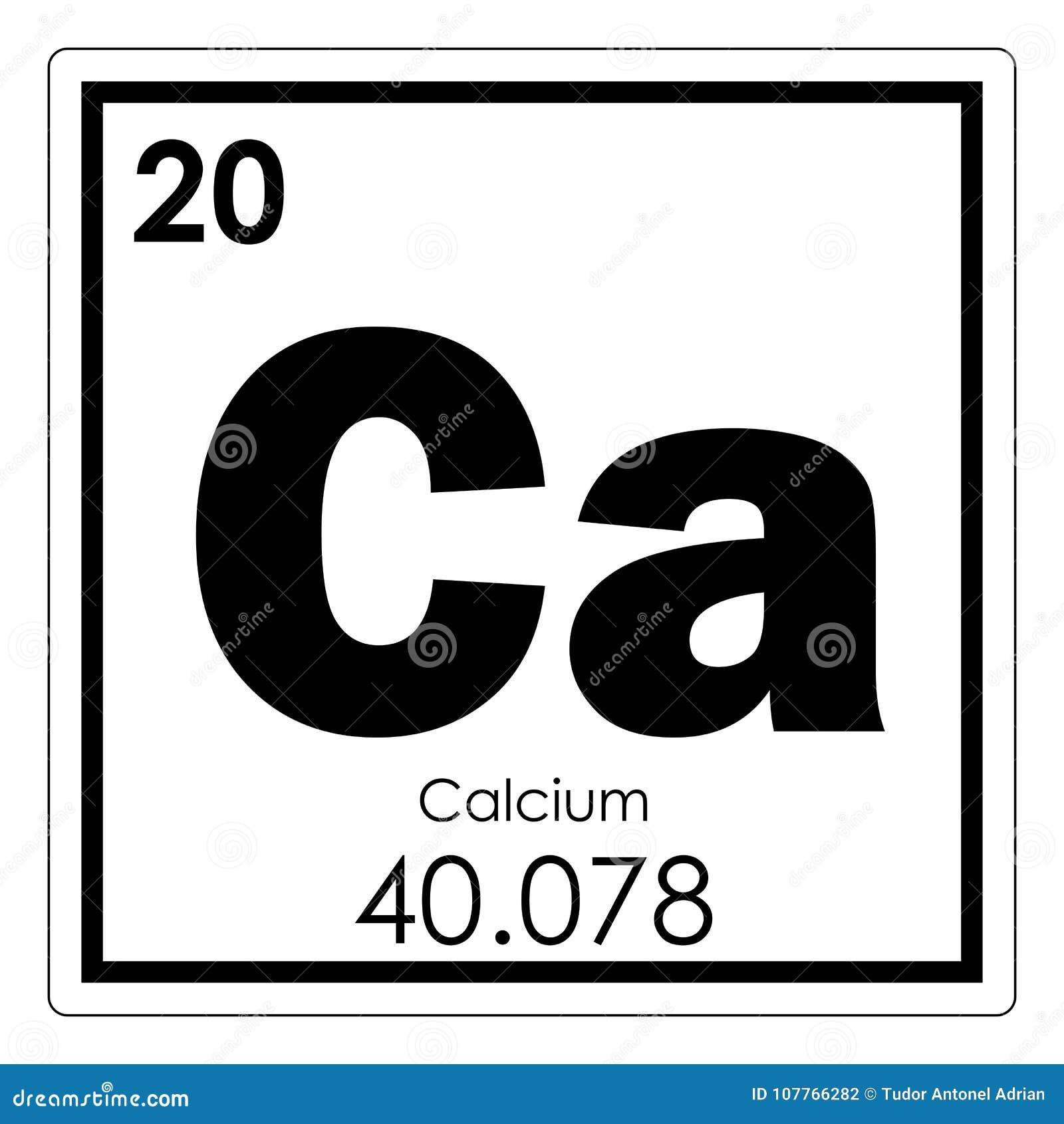 Calcium Chemical Element Stock Illustration Illustration Of