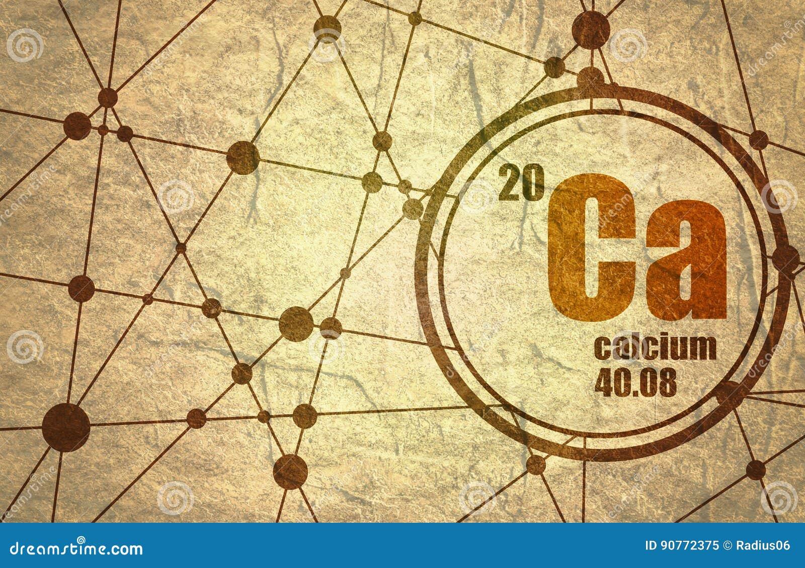 Calcium chemical element.