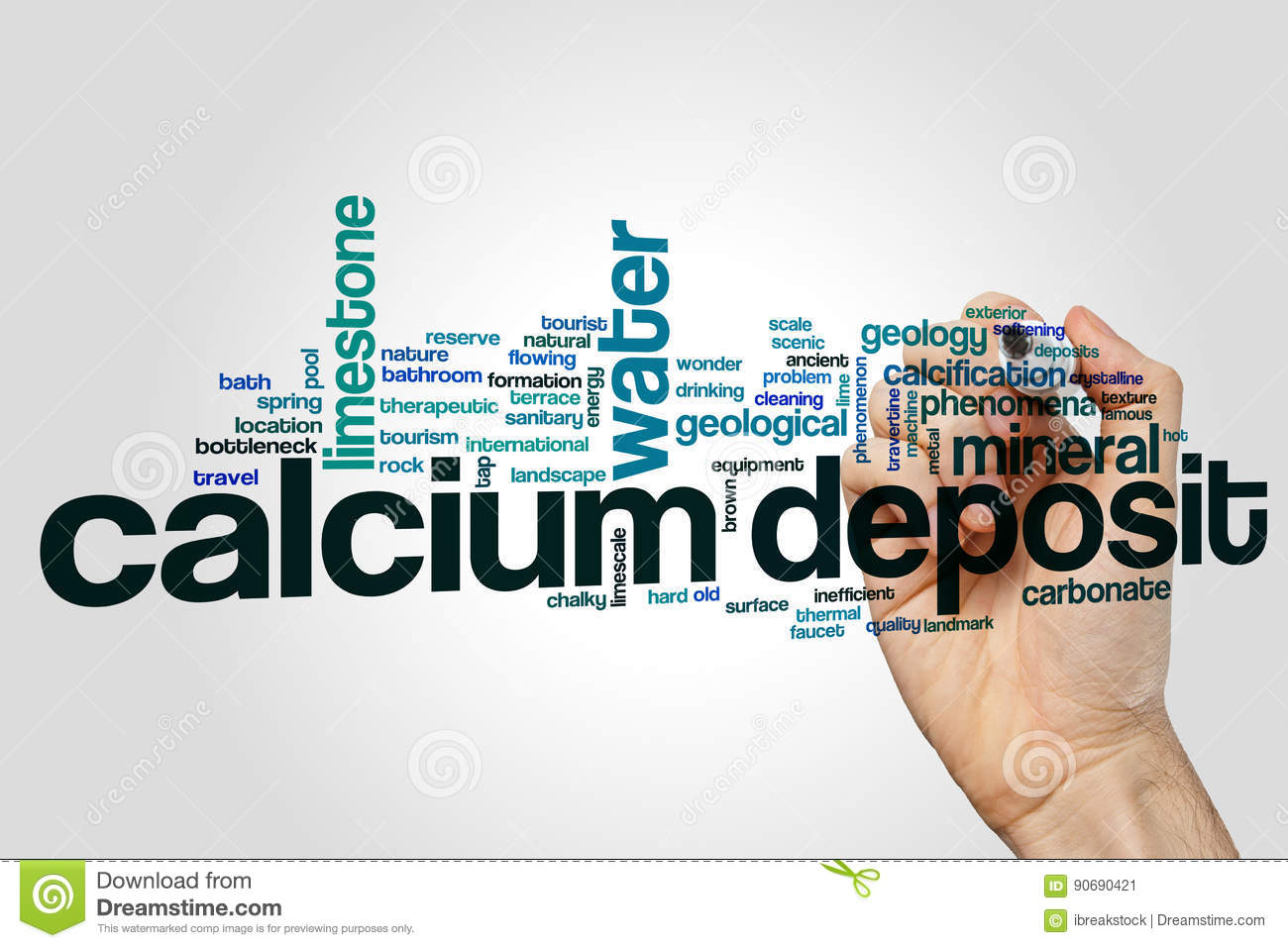 Calcium Deposit Word Cloud Concept On Grey Background Stock Image ...