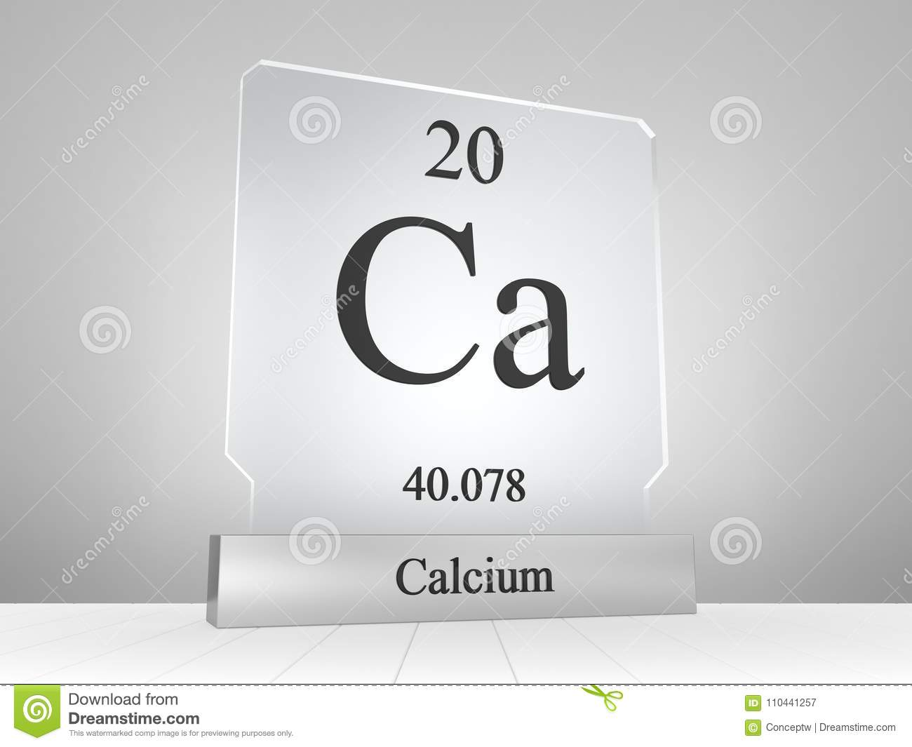 Calcium Symbol On Modern Glass And Metal Icon Stock Illustration