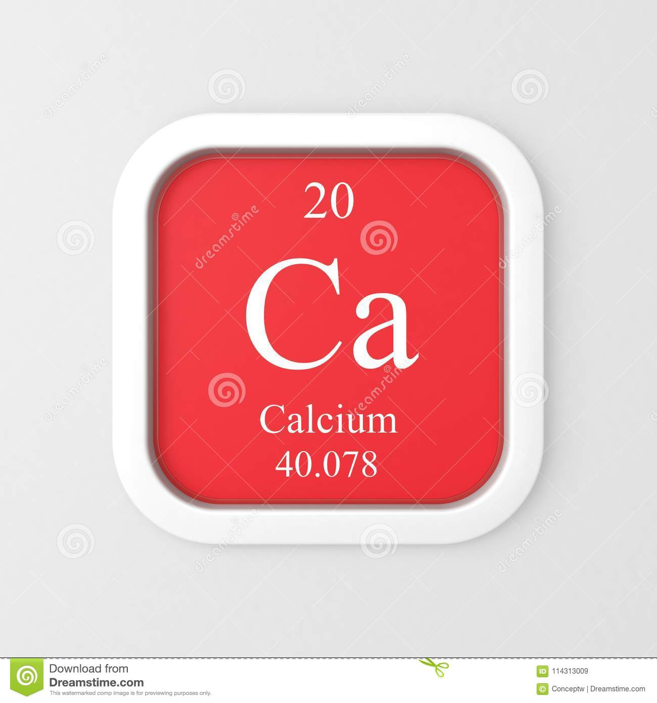 Calcium Symbol From Periodic Table Stock Illustration Illustration