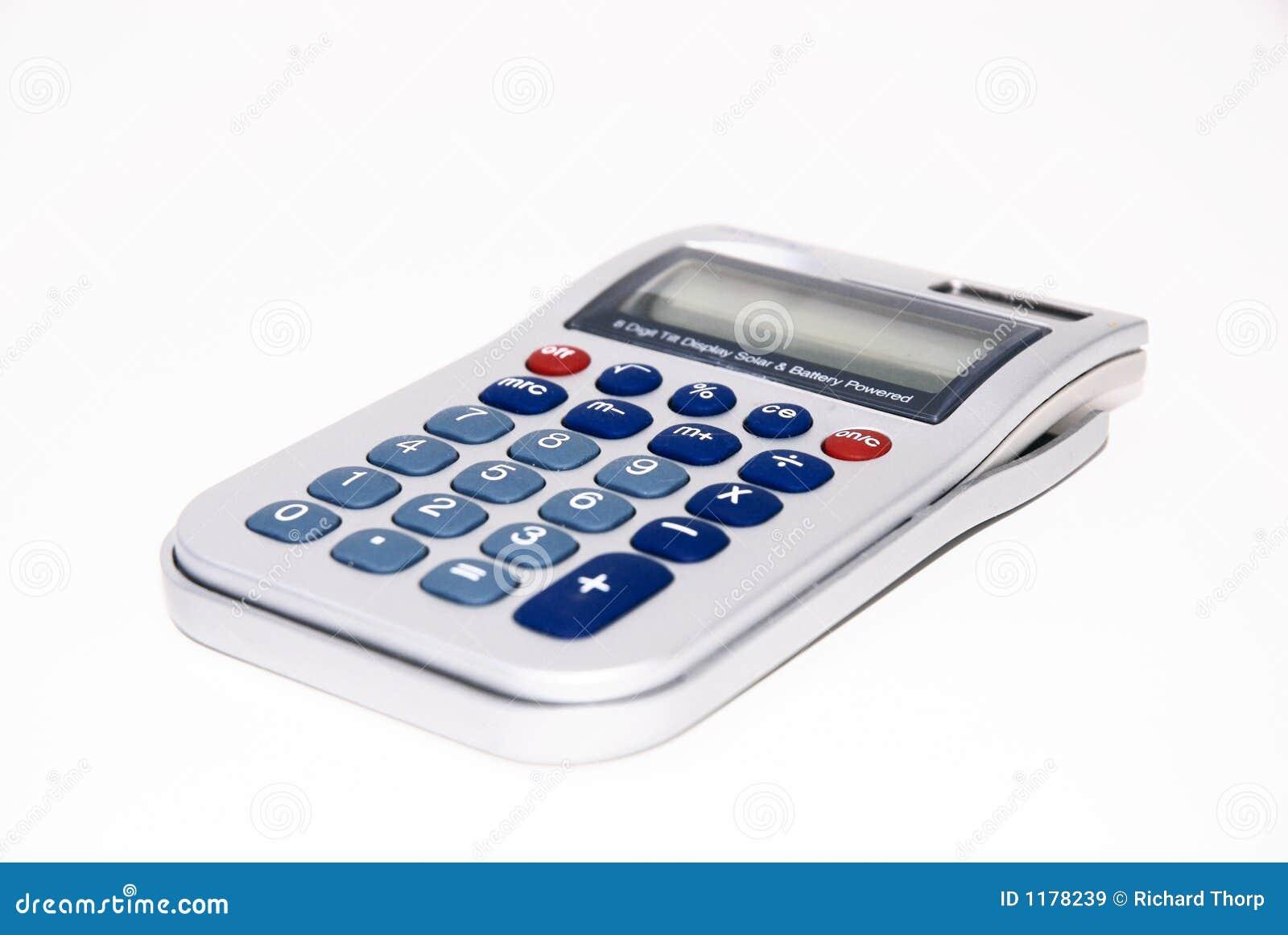 Calcolatore su priorità bassa isolata bianca